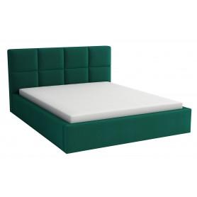 Łóżko tapicerowane sypialniane z pojemnikiem na pościel z materacem 180x200 zielone