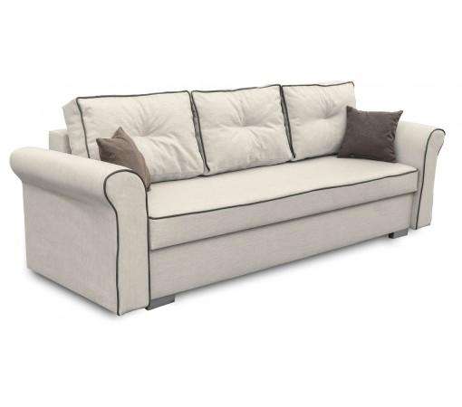 Kremowa Sofa Rozkładana Pele prowansalska z funkcją spania