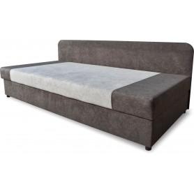 Jednoosobowe wygodne praktyczne łóżko z pojemnikiem na pościel podnoszone 90x200 grafit szary