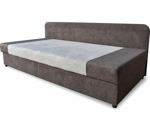 Jednoosobowe wygodne praktyczne małe łóżko z pojemnikiem na pościel podnoszone 80x180
