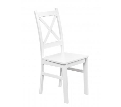 Białe Krzesło Twarde Nietapicerowane do kuchni i jadalni