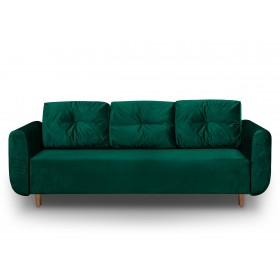 Sofa rozkładana z funkcją spania Sewilla Kronos zielona