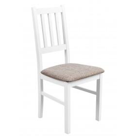 Solidne wygodne krzesło proste oparcie tapicerowane krzesło kuchenne do kuchni jadalni salonu przód