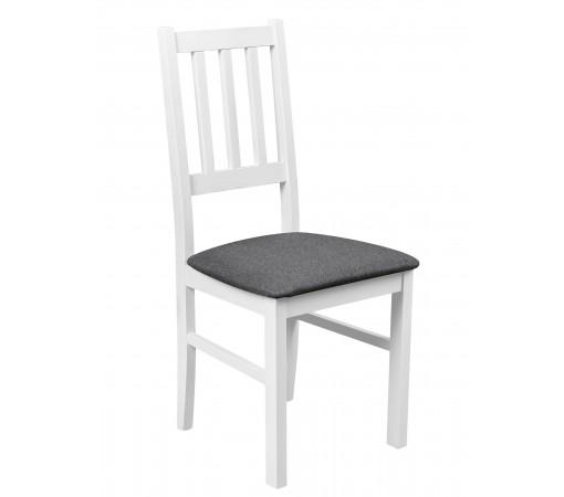 Solidne wygodne krzesło proste oparcie tapicerowane krzesło kuchenne do kuchni jadalni salonu grafit
