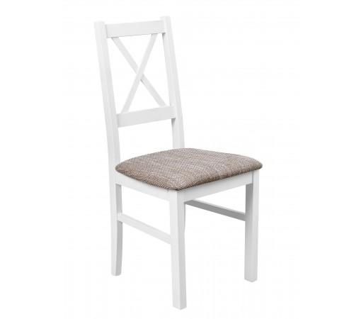 Solidne stabilne wytrzymałe wygodne krzesło tapicerowane oparcie krzyż przód