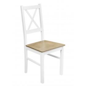 Wytrzymałe krzesło kuchenne siedzisko twarde nietapicerowane profilowane oparcie krzyż