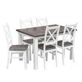 Zestaw do kuchni i jadalni Z062 stół z 5 krzesłami beton