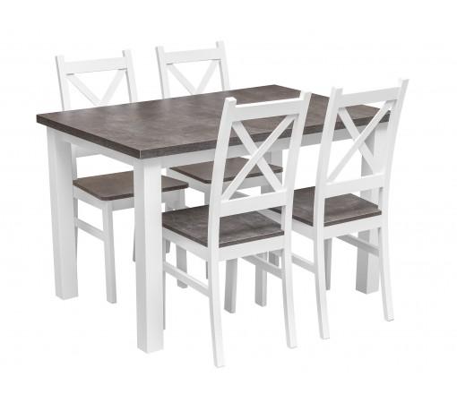Zestaw do kuchni i jadalni Z062 stół z 4 krzesłami beton