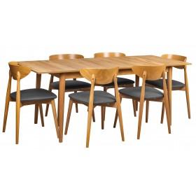 Stół skandynawski do kuchni jadalni + 6 krzeseł