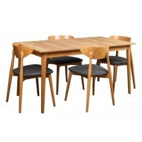 Stół skandynawski do kuchni jadalni 4 krzesła