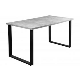 Prostokątny Stół Loft Beton w stylu industrialnym nogi czarne metalowe proste