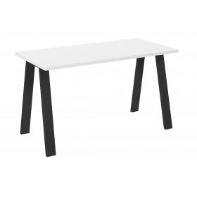 Stół loft w stylu industrialnym blat biały z czarnymi nogami