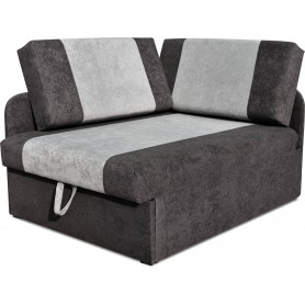 Nowoczesna Sofa Rozkładana Latt z dwoma poduszkami jednoosobowa narożna