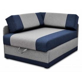 Narożna Sofa Rozkładana Granatowo Szara z funkcją spania rosnąca z pojemnikiem na pościel