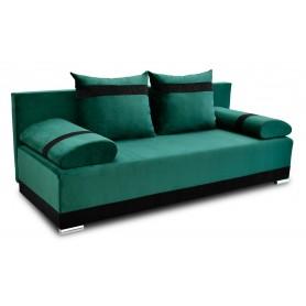 Nowoczesna sofa rozkładana z funkcją spania do salonu do pokoju zielona