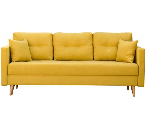 Skandynawska Sofa Rozkładana Lahti z trzema poduszkami do salonu