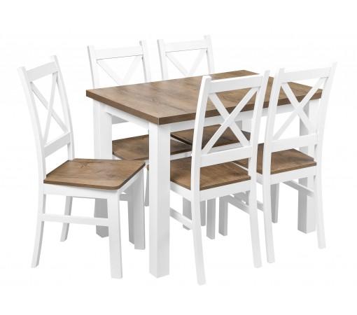 Zestaw Stół 5 Krzeseł do kuchni salonu jadalni dąb lefkas