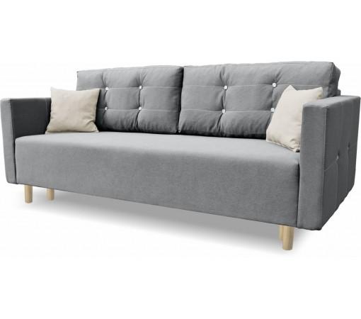 Trzyosobowa Nowoczesna Sofa Rozkładana z poduszkami