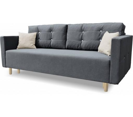 Nowoczesna Sofa Rozkładana Queen pikowana cyrkonie do salonu