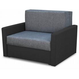 Czarna Sofa Rozkładana Amerykanka Jednoosobowa rozkładana z funkcją spania czarno grafitowa