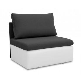 Jednoosobowa sofa fotel amerykanka rozkładana z funkcją spania mała niewielka Toledo  grafitowa biała