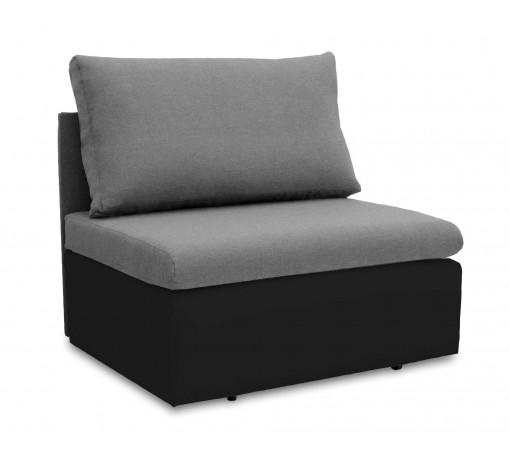 Jednoosobowa sofa fotel amerykanka rozkładana z funkcją spania mała niewielka Toledo szaro czarna