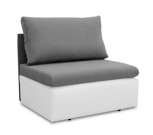 Jednoosobowa sofa fotel amerykanka rozkładana z funkcją spania mała niewielka Toledo szaro biała