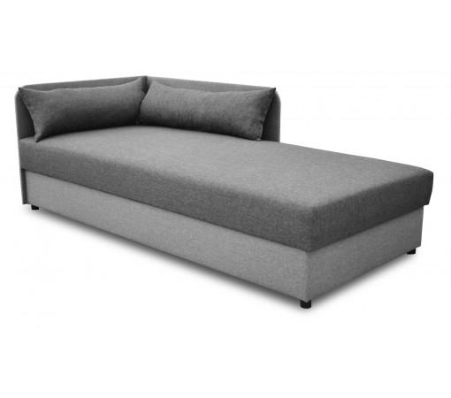 Tapczan łóżko jednoosobowe na sprężynach bonell szary grafit wygodny stabilny solidny z funkcją spania podnoszony Dallas