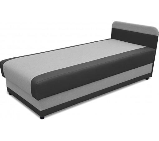 Tapczan łóżko jednoosobowe na sprężynach bonell szary grafit wygodny stabilny solidny z funkcją spania podnoszony 80x180