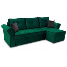 Zielony Nowoczesny Narożnik Rozkładany z funkcją spania do salonu pokoju sypialni