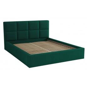 Dwuosobowe łóżko sypialniane ze stelażem tapicerowane do sypialni Alaska 140x200 zielone
