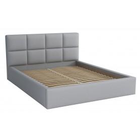 Dwuosobowe łóżko sypialniane ze stelażem tapicerowane do sypialni Alaska 140x200 szare
